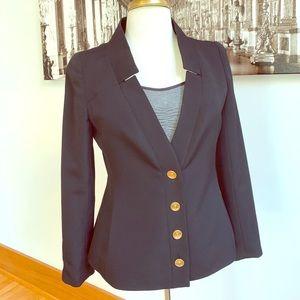 Chanel Black Jacket 2001 collection sz 40 EUC